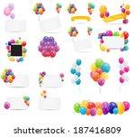 color glossy balloons card mega ... | Shutterstock .eps vector #187416809