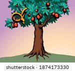 ancient creepy deadly viper... | Shutterstock .eps vector #1874173330