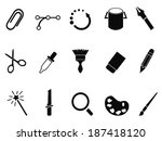 graphic design tools icon set