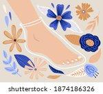 cartoon foot mask sock with...   Shutterstock .eps vector #1874186326