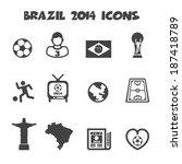 brazil 2014 icons  mono vector... | Shutterstock .eps vector #187418789