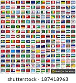 220 flags of world  flat icons... | Shutterstock .eps vector #187418963