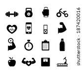 fitness icon | Shutterstock .eps vector #187420016