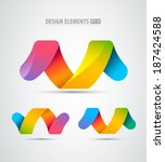 vector abstract logo infinity... | Shutterstock .eps vector #187424588