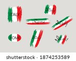 italian flag with handwritten... | Shutterstock .eps vector #1874253589