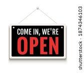 open sign business vector shop... | Shutterstock .eps vector #1874346103