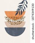 abstract sun moon geometric... | Shutterstock .eps vector #1874349130