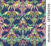 seamless vector pattern... | Shutterstock .eps vector #1874366146