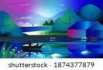 beautiful abstraction where a... | Shutterstock . vector #1874377879
