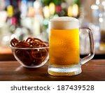 cold mug of beer  | Shutterstock . vector #187439528