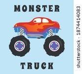vector illustration of monster... | Shutterstock .eps vector #1874414083