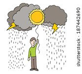 an image of rainy day... | Shutterstock . vector #187442690