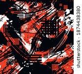 abstract seamless grunge... | Shutterstock .eps vector #1874438380
