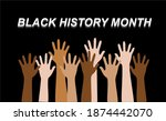 black history month writing... | Shutterstock .eps vector #1874442070