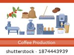 coffee production vector... | Shutterstock .eps vector #1874443939