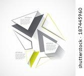 minimal style design template | Shutterstock .eps vector #187445960
