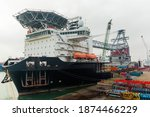 A Large Offshore Vessel With A...