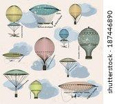 vintage  seamless pattern of... | Shutterstock .eps vector #187446890