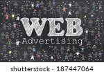 geo targeting on blackboard... | Shutterstock . vector #187447064
