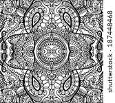 abstract tribal ethnic... | Shutterstock .eps vector #187448468