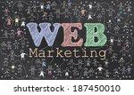 geo targeting on blackboard... | Shutterstock . vector #187450010