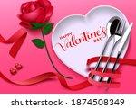 valentines date vector... | Shutterstock .eps vector #1874508349
