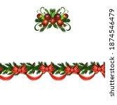 christmas holly brunches...   Shutterstock .eps vector #1874546479