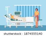 resuscitation medical ward...   Shutterstock .eps vector #1874555140