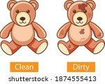 opposite adjectives words with...   Shutterstock .eps vector #1874555413