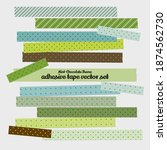 mint chocolate theme adhesive...   Shutterstock .eps vector #1874562730