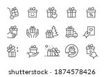 set of gift box icons  such as... | Shutterstock .eps vector #1874578426