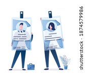 business people are holding... | Shutterstock .eps vector #1874579986