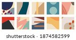 trendy social media set of ten...   Shutterstock .eps vector #1874582599