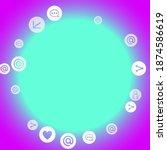 social media marketing ...   Shutterstock .eps vector #1874586619