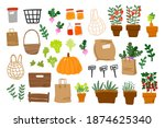 local food  vegetables and... | Shutterstock .eps vector #1874625340