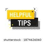 helpful tips megaphone yellow... | Shutterstock .eps vector #1874626060