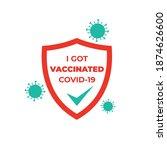 vaccinated coronavirus 2019... | Shutterstock .eps vector #1874626600