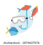 Concept Of Underwater Tour And...