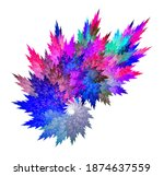 Abstract Fractal Colorful...
