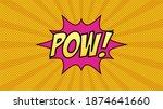 Comic Vector Pow Speech Bubble  ...
