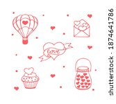 set of hand drawn elements...   Shutterstock .eps vector #1874641786