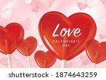 happy valentine's day design... | Shutterstock .eps vector #1874643259