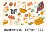 set of icons edible bouquet...   Shutterstock .eps vector #1874644726