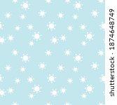 seamless pattern of molecules ... | Shutterstock .eps vector #1874648749