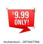 sale 0.99 dollars only offer... | Shutterstock .eps vector #1874667586