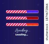 christmas loading bars game ui...