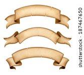ribbon in retro style | Shutterstock .eps vector #187467650