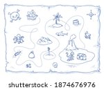 Cute Pirate's Treasure Map With ...