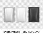 vector 3d realistic foil  white ...   Shutterstock .eps vector #1874692690