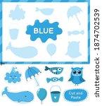 blue color. cut the elements... | Shutterstock .eps vector #1874702539